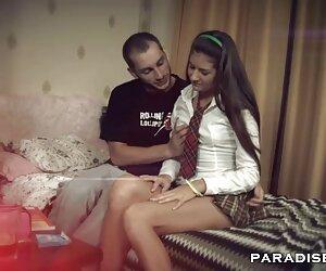 Mujer, parejas amater follando en, piso